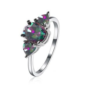 Mystic Fire Rainbow Topaz Ring